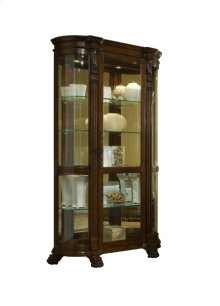 Foxcroft Curved End Mirrored Curio