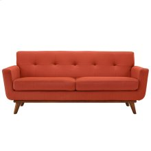 Engage Upholstered Fabric Loveseat in Atomic Red