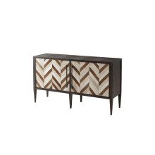 Burnet Decorative Chest - Hair On Hide Parquetry
