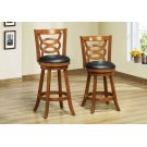 "BARSTOOL - 2PCS / 42""H / SWIVEL / DARK OAK BAR HEIGHT Product Image"
