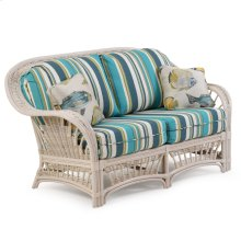 Rattan Loveseat Whitewash 4402