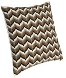 "Luxe Pillows Embroidered Modern Flame Stitch (22"" x 22"") Product Image"