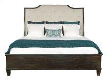 Queen-Sized Sutton House Upholstered Sleigh Bed in Dark Mink (367)