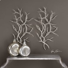 Silver Branches Metal Wall Decor, S/