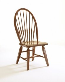Attic Heirlooms Windsor Side Chair, Rustic Oak