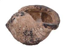 Ceramic Seashell Figurine, Distressed Beige