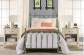 Molly Twin Duo Panel Blue - Must Order 2 Panels for Complete Bed Set