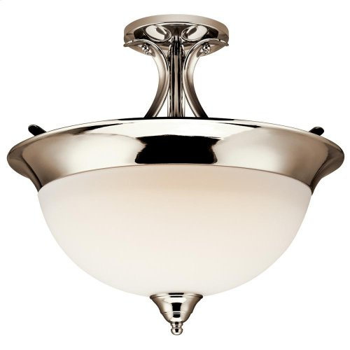 Dover Collection Dover 3 Bulb Semi Flush Ceiling Light TZ
