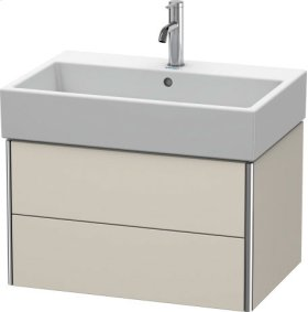 Vanity Unit Wall-mounted, Taupe Matt (decor)