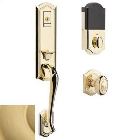 Satin Brass Evolved Bethpage Knob Handleset