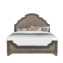 Bristol King / California King Panel Bed Footboard and Slats in Elm Brown
