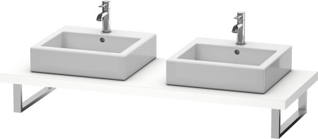 Console For Above-counter Basin And Vanity Basin, White Matt