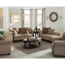 Beasley Traditional Light Brown Two-piece Living Room Set