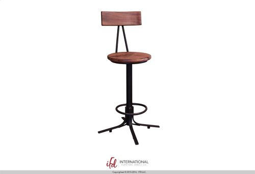 "24-30"" Adjustable Height swivel Barstool with wooden back & seat,iron base**"