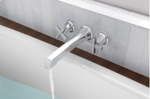 Two-handle Wall Mount Tub Filler - Less Handles Product Image
