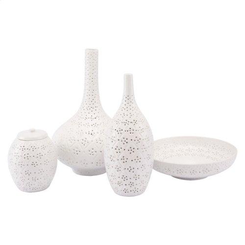 Floral Large Vase White