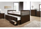 3000 Mission Hills Captain's Bed with Dresser & Mirror
