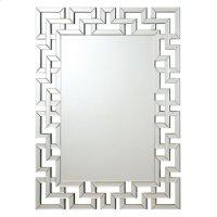 Transitional Frameless Greek Key Mirror Product Image
