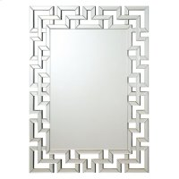 Transitional Frameless Greek Key Mirror Product Image