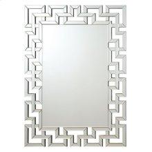 Transitional Frameless Greek Key Mirror