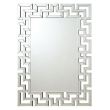 Transitional Frameless Greek Key Mirror