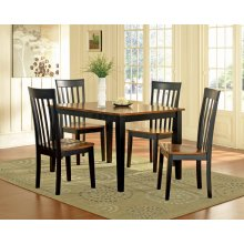 Newport 5 pc. Dining Set, Black/Cherry