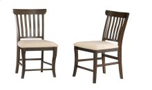 Venetian Dining Chairs Set of 2 with Oatmeal Cushion in Walnut