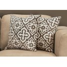 "PILLOW - 18""X 18"" / DARK TAUPE MOTIF DESIGN / 2PCS Product Image"