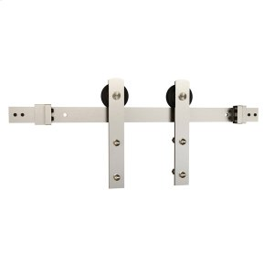 "Sliding Barn Door Hardware - 6'6"" I Strap - Satin Nickel Product Image"