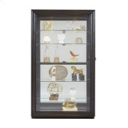 Framed Sliding Door 5 Shelf Curio Cabinet in Dark Brown Product Image