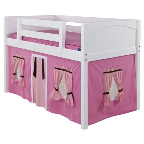 Under Bed Curtains : Hot Pink/Soft Pink/Brown