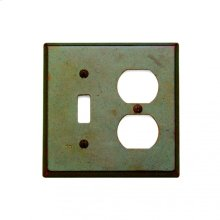 Combination Switch & Outlet Cover White Bronze Brushed
