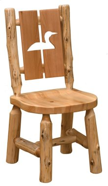 Cut-out Side Chair Loon, Wood Seat