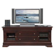 "Phillipe 74"" HDTV Cabinet w/Fireplace"