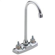 Chrome Two Handle Bar / Prep Faucet - Less Handles