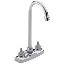Chrome Two Handle Bar / Prep Faucet - Less Handles