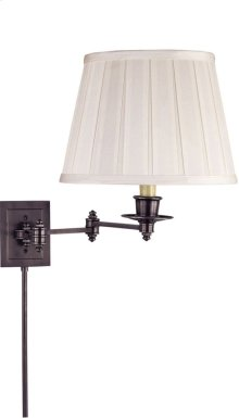 Visual Comfort S2000BZ-S Studio 19 inch 100 watt Bronze Swing-Arm Wall Light in Silk
