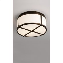 "INCANDESCENT LITEBOX 16"" FLUSHMOUNT WITH CROSSBARS - BRUSHED NICKEL"