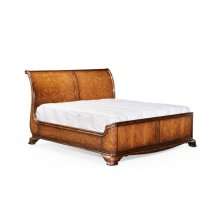US King Walnut Sleigh Bed