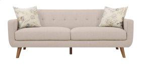 Sofa Beige W/2 Accent Pillows
