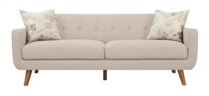 Sofa Beige W/2 Accent Pillows