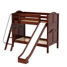 Medium High Bunk w/ Angle Ladder & Slide : Twin : Chestnut : Curved