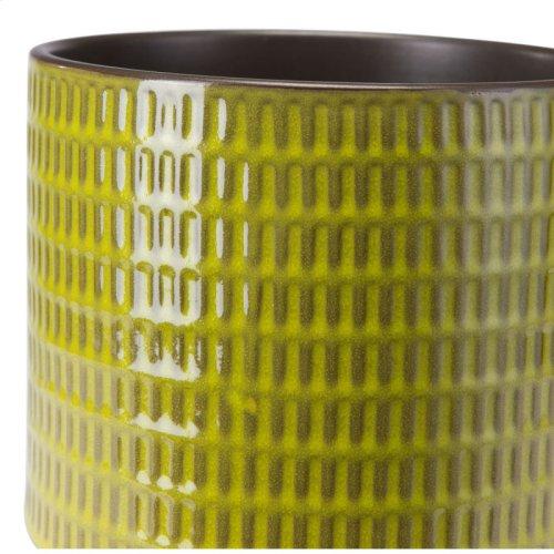 Cylinder Planter Lg Olive Green