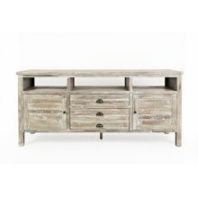 """Artisan's Craft 70"""" Media Console - Washed Grey"""