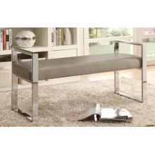 Contemporary Chrome and Champagne Bench