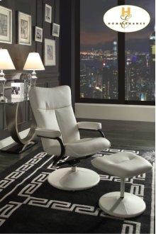 Swivel Reclining Chair with Ottoman Chair: 25 x 28.5 x 45H Ottoman: 18 x 17 x 15.5H