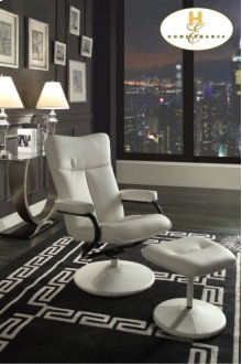 Swivel Reclining Chair with Ottoman