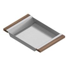 Tray 205233 - Stainless steel sink accessory , Walnut