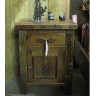 Barnwood Nightstand 1 Drawer with Door Product Image