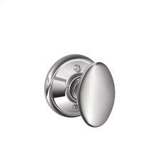 Siena Knob Non-turning Lock - Bright Chrome